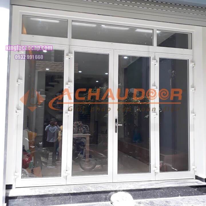 cửa nhôm Xingfa 4 cánh màu trắng sang trọng
