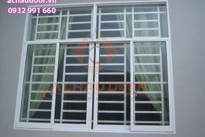 Mẫu cửa sổ mở lùa nhôm xingfa 4 cánh