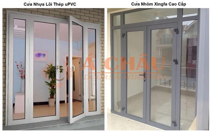 So sánh cửa nhôm Xingfa và cửa nhựa lõi thép