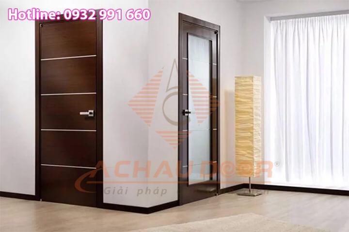 Cửa cho phòng ngủ từ nhựa Đài Loan giả gỗ.